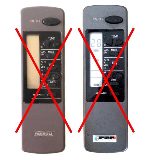 Telecomando condizionatore climatizzatore fer ferroli - Swing condizionatore ...